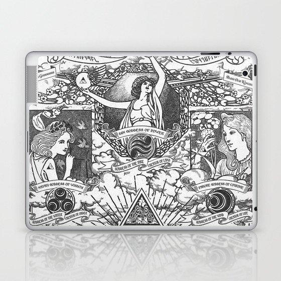 Legend of Zelda - The Three Goddesses of Hyrule Geek Line Artly Laptop &  iPad Skin by jollyappleskull