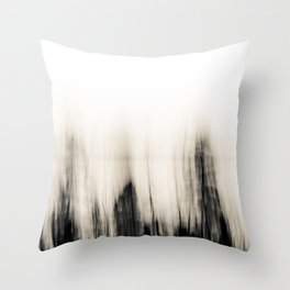 Trees By the Sea Abstract Throw Pillow