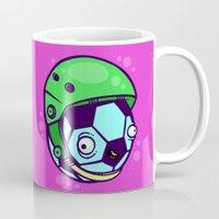 soccer Mugs featuring Soccer Helmet by Artistic Dyslexia