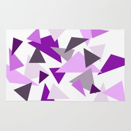 Triangel Design purple violet pink Rug