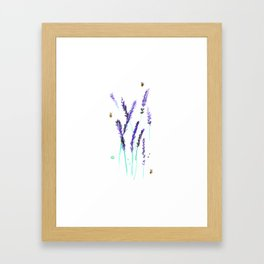 Lavender & Bees Framed Art Print