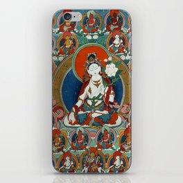 Buddist Art - Thangka with White Tara iPhone Skin