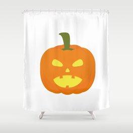 Halloween Pumpkin light Shower Curtain