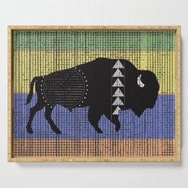 Charcoal Buffalo Serving Tray