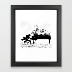 Pianist Passion Framed Art Print