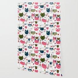 Modern Cat Pattern Wallpaper