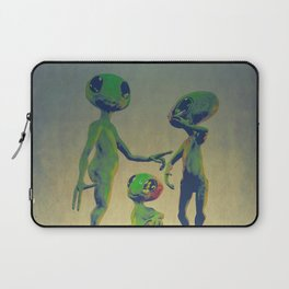 Little Green Family Portrait Laptop Sleeve