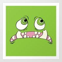 Little Green Monster Art Print