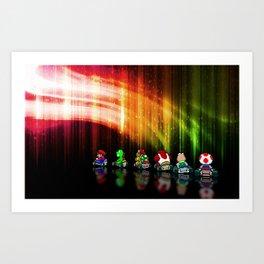 Super Mario Kart - Pixel art Art Print