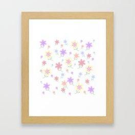 Watercolor Flower Garden Framed Art Print