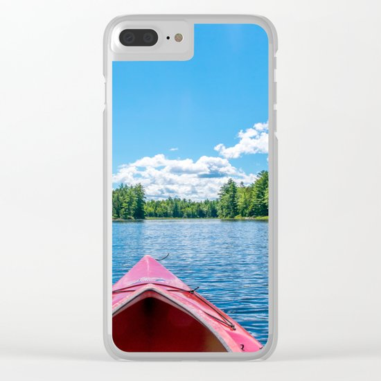 Just Keep Paddling Clear iPhone Case