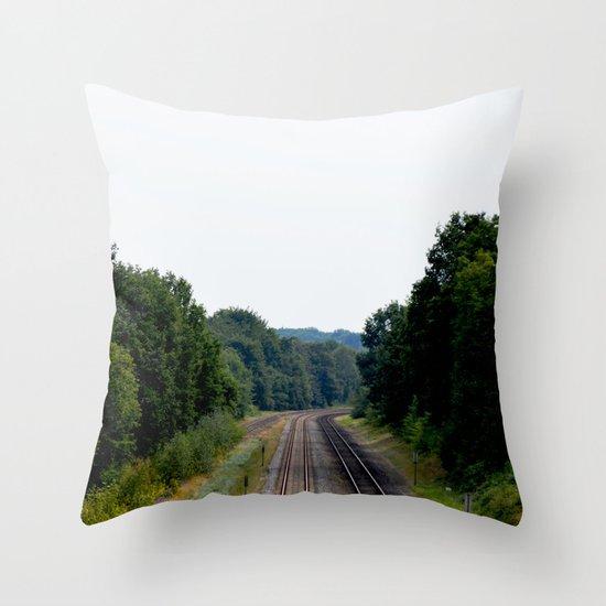 Tracks Throw Pillow