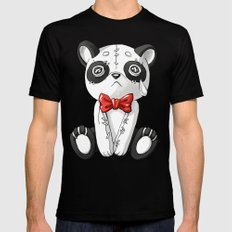 Panda Doll Black Mens Fitted Tee SMALL