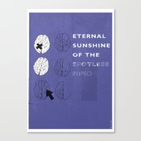 eternal sunshine of the spotless mind Canvas Prints featuring Eternal Sunshine of the Spotless Mind by Ben Mcleod