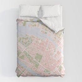 Copenhagen map vintage Comforters