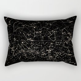 Constellations Map, Stars, Astronomy Cosmos Galaxy Rectangular Pillow