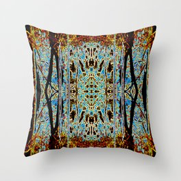 ABSTRACT ICICLES Throw Pillow