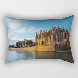 Day to night on Cathedral of Palma de Mallorca Rectangular Pillow