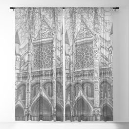 Westminster Black and White Sheer Curtain