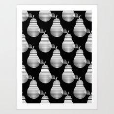 Black And White Pears Art Print
