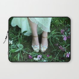 Waiting Amongst the Sweet Peas Laptop Sleeve