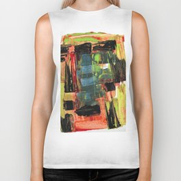Step Through the Portal Abstract Contemporary Painting Biker Tank