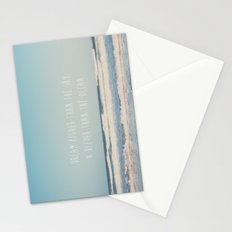 dream higher than the sky & deeper than the ocean Stationery Cards