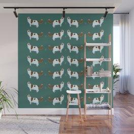 Brady the Cat Pattern Wall Mural