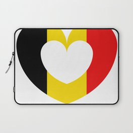 Belgium flag with heart Laptop Sleeve