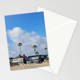 Beach Houses on the Balboa Peninsula Stationery Cards