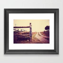 Road Country Farm Framed Art Print