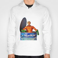 aquaman Hoodies featuring The Wrong Place At The Wrong Time by Beastie Toyz