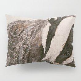 Watercolor Badger Painting Pillow Sham