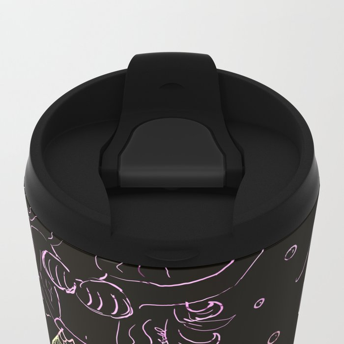 Mermaid In The Dark Metal Travel Mug