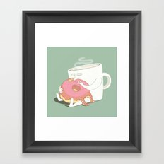 A kiss Framed Art Print