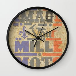 Napoleons Quote Wall Clock