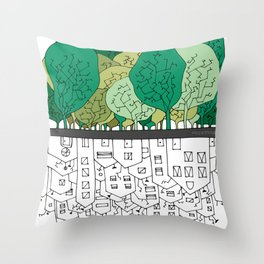 SCONFINAMENTI-CITY AND NATURE Throw Pillow