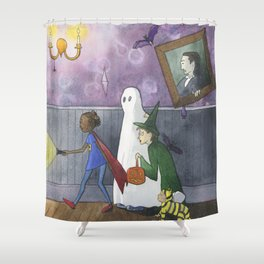 The Haunted Mansion Shower Curtain