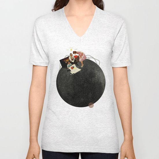 Life on Earth | Collage Unisex V-Neck