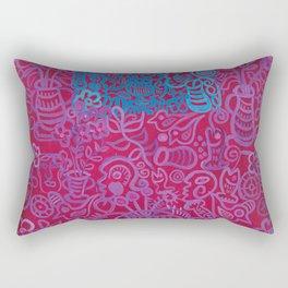 Egyptian Series Blue Maroon by Gert Mathiesen Rectangular Pillow