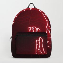 Red Neon Meanwhile Backpack