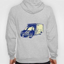 EMS Ambulance Emergency Vehicle Woodcut Hoody