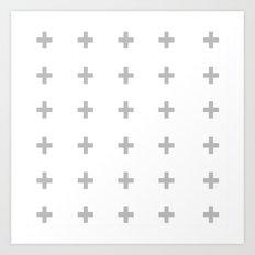 +++ (Gray) Art Print