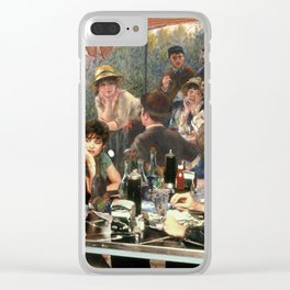 Renoir's Luncheon of the Boating Party & Grease Clear iPhone Case