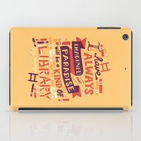 library iPad Cases featuring Library by Risa Rodil