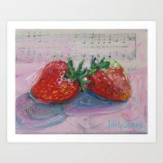 Strawberry Sweetness Art Print