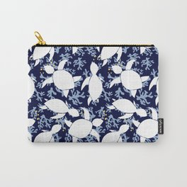 LeatherBack Sea Turtle print pattern Nautical Carry-All Pouch
