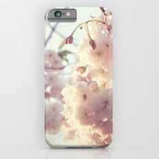 sunlit cherryflowers iPhone 6s Slim Case