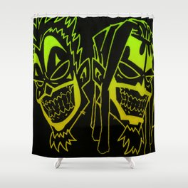 Icp heads Shower Curtain