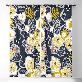 Scandinavian flowers greet you Blackout Curtain